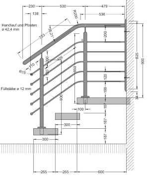 Atemberaubend Brüstungshöhe balkon: Geländer cad download &UG_86